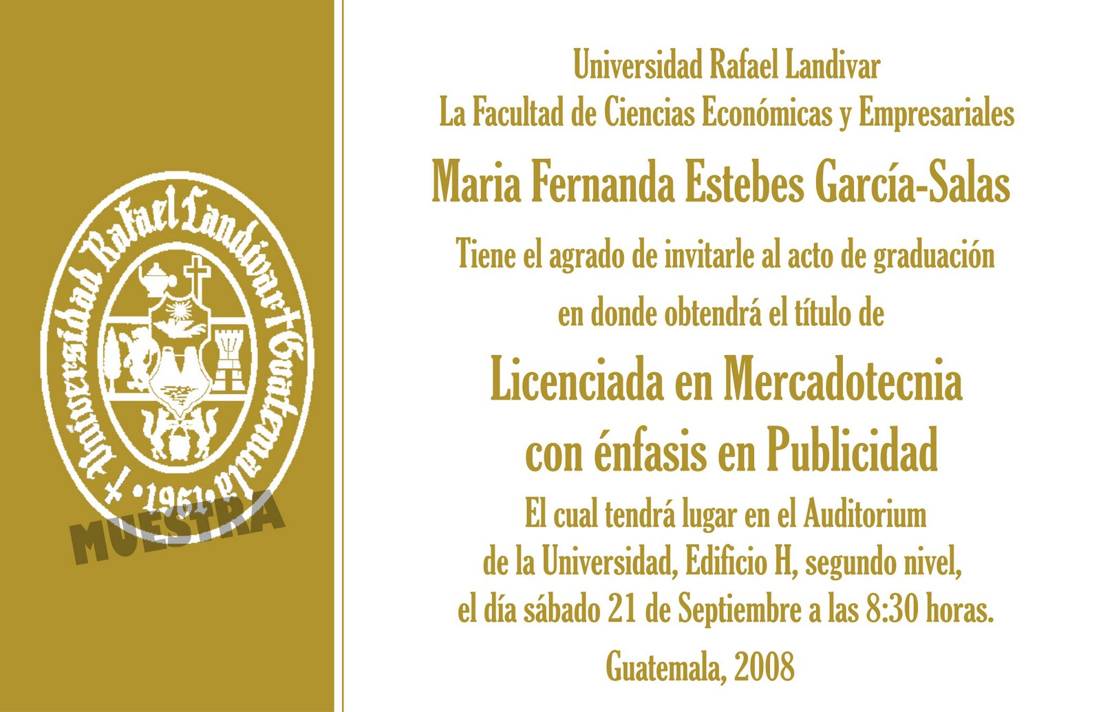 Invitaciones De La Fiesta Graduacion Con Un Diseno Elegante En ...