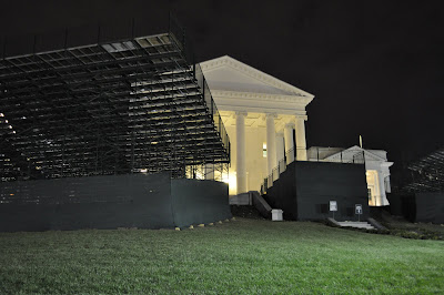 grand stands at the Virginia Capitol
