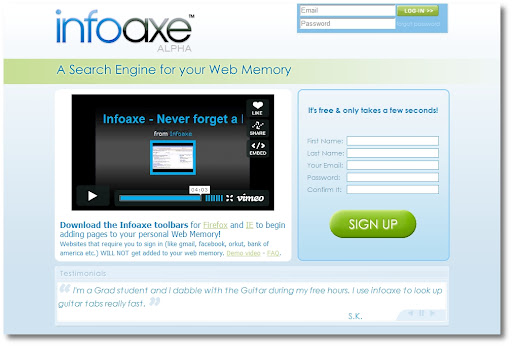 Find record web search history infoaxe