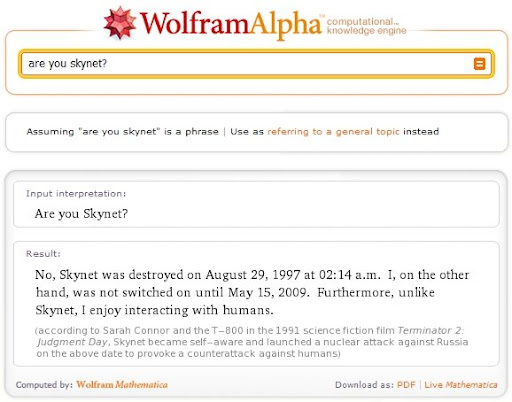 Wolfram|Alpha's Computational Knowledge Engine is delusional