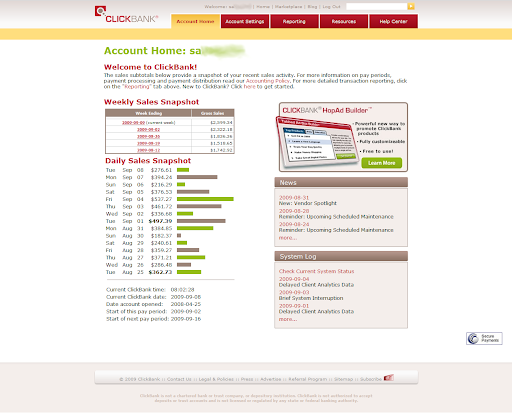 Finally broke my $500-per-day barrier on Clickbank