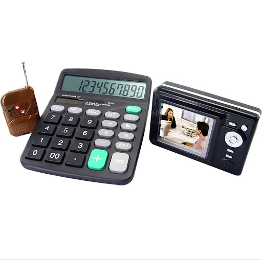 Spy on your employees with Calculator Video Cams