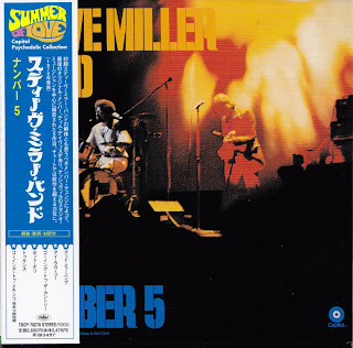 Cover Album of STEVE MILLER BAND - NUMBER 5 (CAPITOL 1970) Jap mastering cardboard sleeve