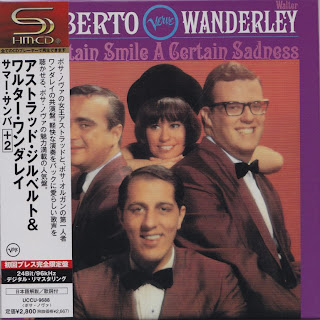 Cover Album of ASTRUD GILBERTO/WALTER WANDERLEY - A CERTAIN SMILE... (VERVE 1966) Jap mastering cardboard sleeve