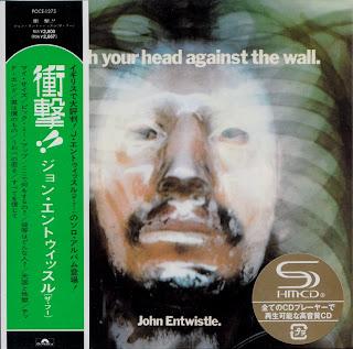 JOHN ENTWISTLE - SMASH YOUR HEAD AGAINST THE WALL (TRACK 1971) Jap mastering cardboard sleeve + 9 bonus
