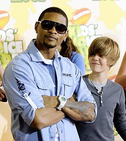 bieber usher. Justin choice Usher.