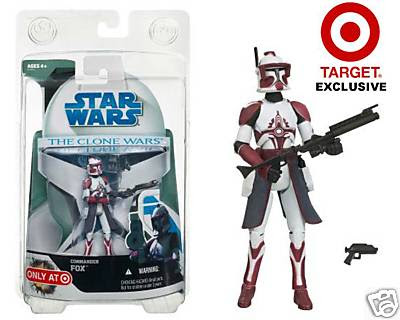 Star Wars The Clone Wars Commander Fox Target Exclusive