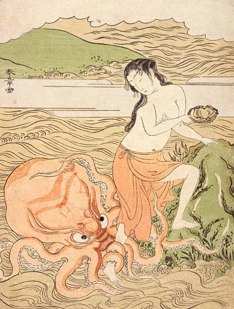 But Hokusai didn't invent the motif of woman having sex with octopus.