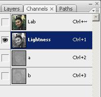 Lab color mode ile netlik nasıl mı bak :)