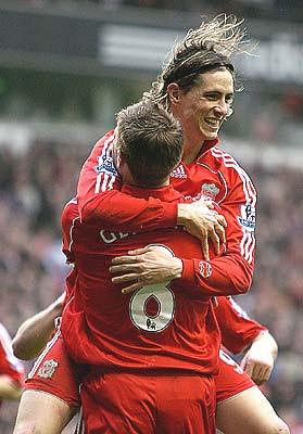 Steven Gerrard of Liverpool is