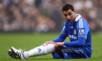 Ricardo Quaresma of Chelsea sits on the pitch during the Barclays Premier League match between Chelsea and Hull City
