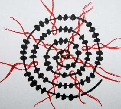 Круговая техника плетения наоборот.  Быстрый набор бисера (видео урок).