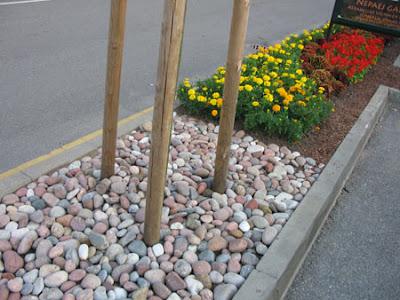мульчирование камни