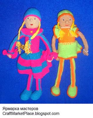 вязаные куклы крючком, вязаные куклы своими руками,  вязаные куклы игрушки