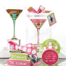 "Mud Pie Martini Glasses-Example ""Mommy's Sippy Cup"""