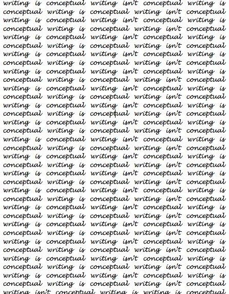 conceptual writing