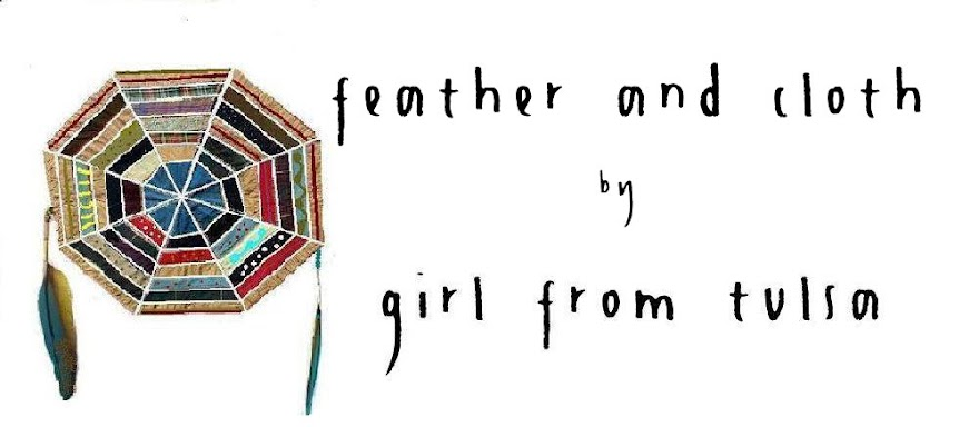 feather and cloth by girl from tulsa