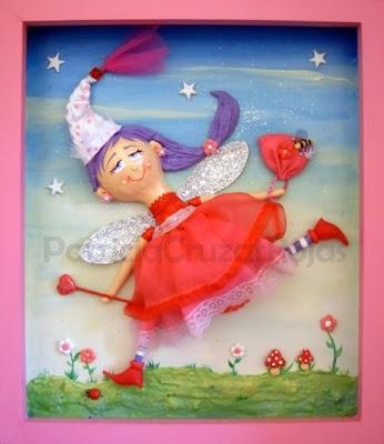 >>>>> Figuras en papel mache .... Hadita+Vestido++y+zapatos+Rojos