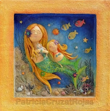 Sirena con sus hijos (en Papel maché)