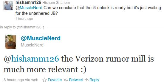 Unlock del iPhone 4 podria salir despues del lanzamiento del iPhone 4 con Verizon