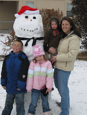 "Meet our dad, ""the snow man"""
