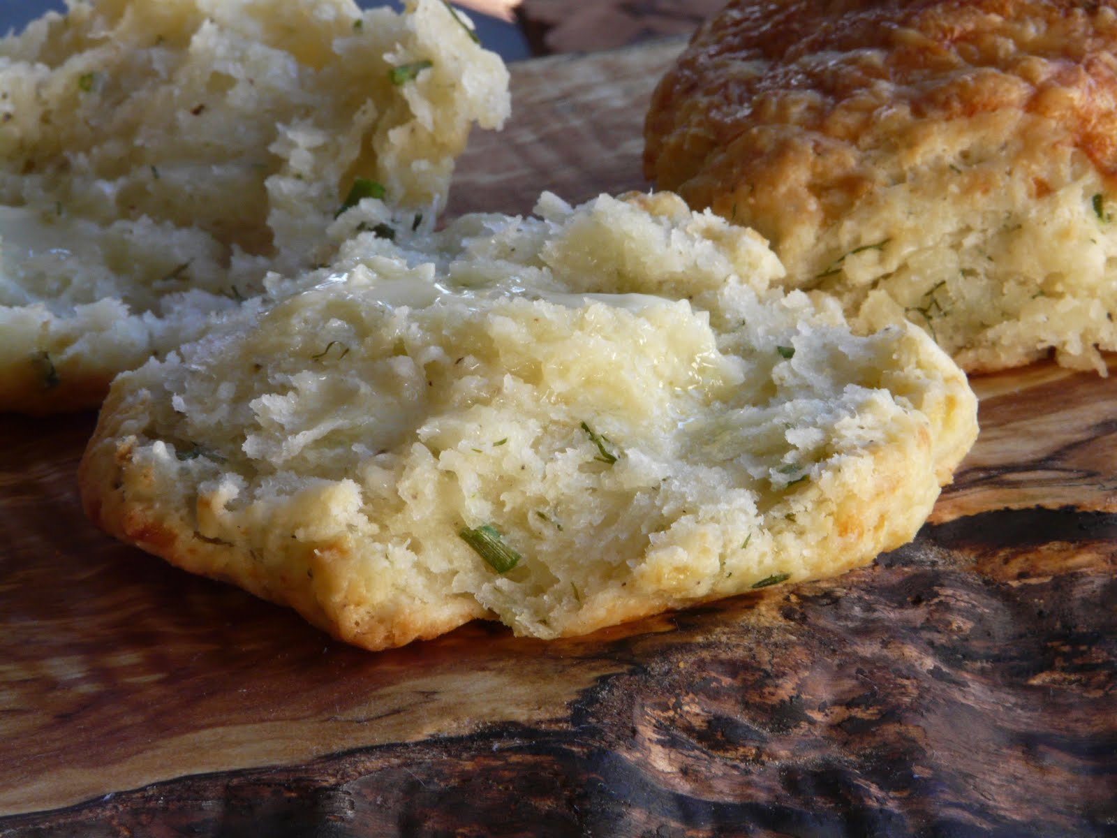 Thibeault's Table: White Cheddar Herbed Drop Biscuits