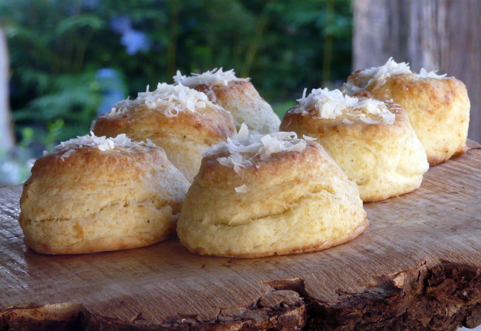 Parmesan And Black Pepper Biscuits Recipe — Dishmaps