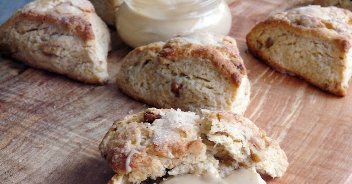 Thibeault's Table: Toasted Walnut Scones with Maple Butter