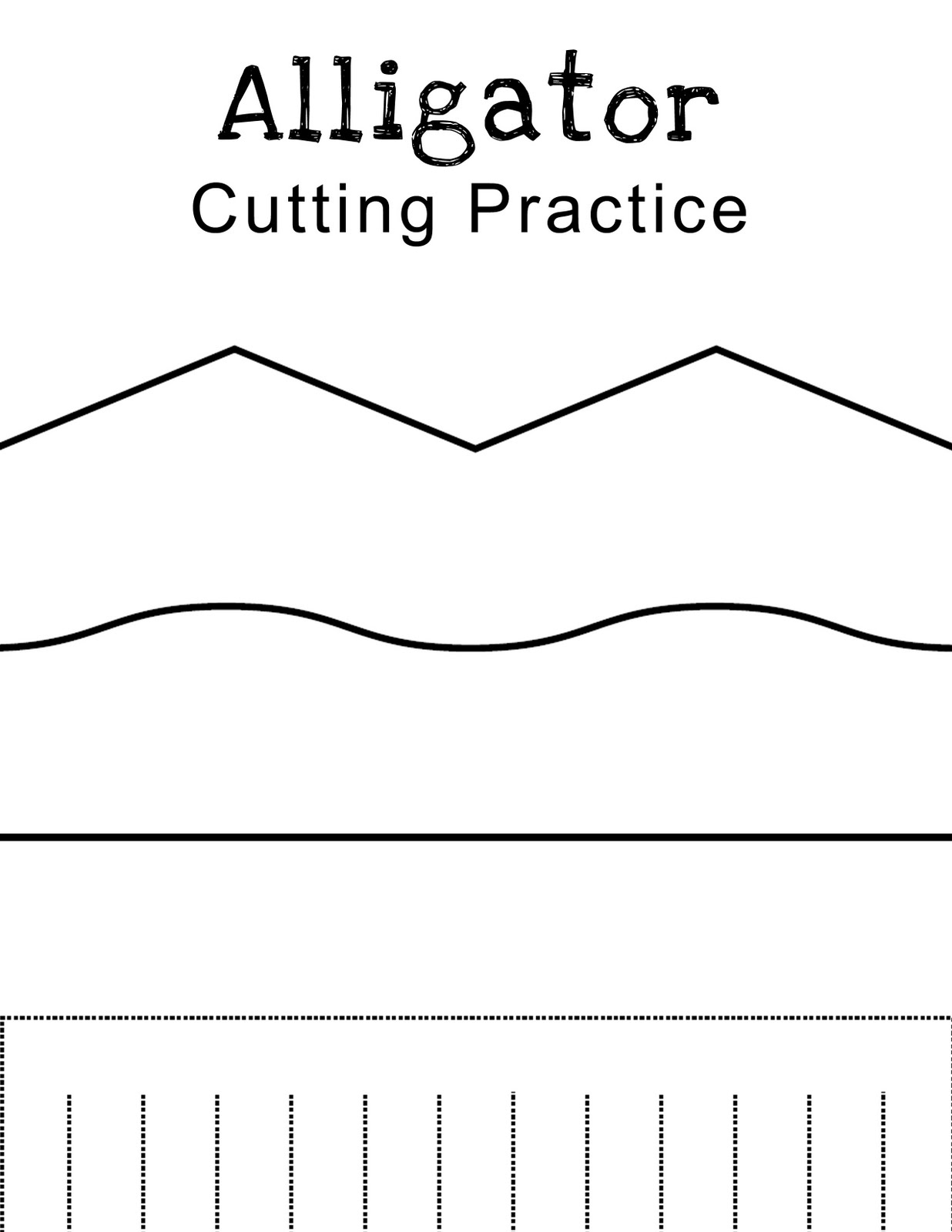 This is a picture of Influential Printable Cutting Practice