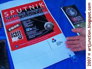 artjunction:Toronto Sputnik Space Party poster