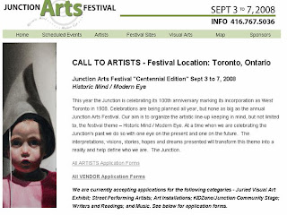 Call to Artists: The Junction Arts Festival: September 3-7, 2008