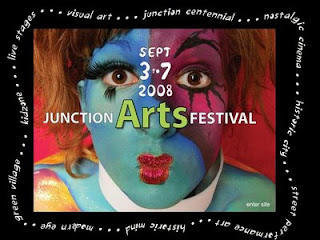 Toronto Junction Arts Festival 2008 Website Screenshot by artjunction.blogspot.com