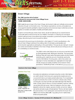 Screenshot: Toronto Junction Arts Festival Green Village 2008 by artjunction.blogspot.com