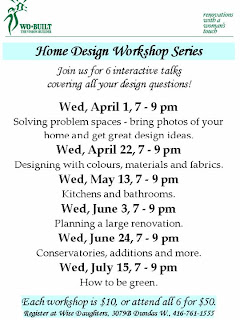 Flyer: Wo-Built Home Design Workshop Series