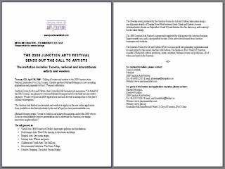 Call to Artists: Junction Arts Festival 2009: Innovations, Future Visions, Hopes and Dreams