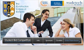 Screenshot: The Student Bid Competition's Website