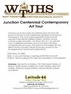 Poster: Junction Centennial Contemporary Art Tour with Jen Morin, Explore Canada's Contemporary Art Scene in Toronto, May 16, 2009