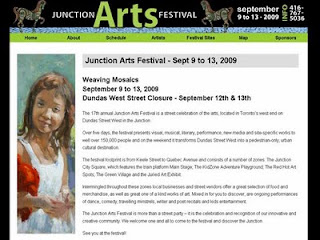 Screenshot: The Junction Arts Featival - Weaving Mosaics - September 9 to 13, 2009