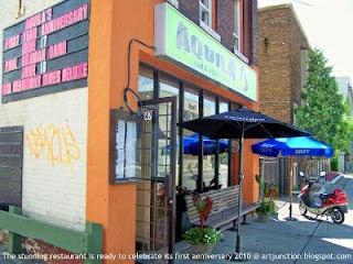 Aguila Restaurant & Toronto Junction Jazz Bar celebrate its first anniversary June 17 - 18, 2010 @ artjunction.blogspot.com