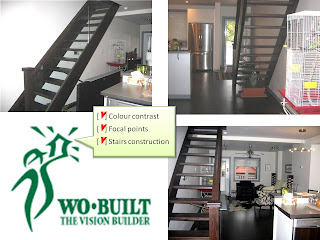 Wo-Built addition renovation project wow factor approach: stairs construction, photo