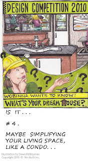 Wo-Built Inc. Design Competition 2010 Wobinna Your Dream House: Condo, illustration by Dawn Palfreyman