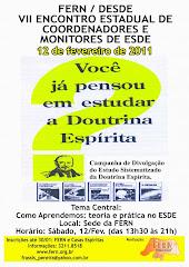 VII ENCONTRO ESTADUAL DE COORDENADORES E MONITORES DE ESDE