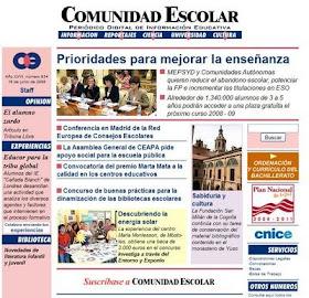 """Nuestro blog en la revista """"comunidad escolar"""""""