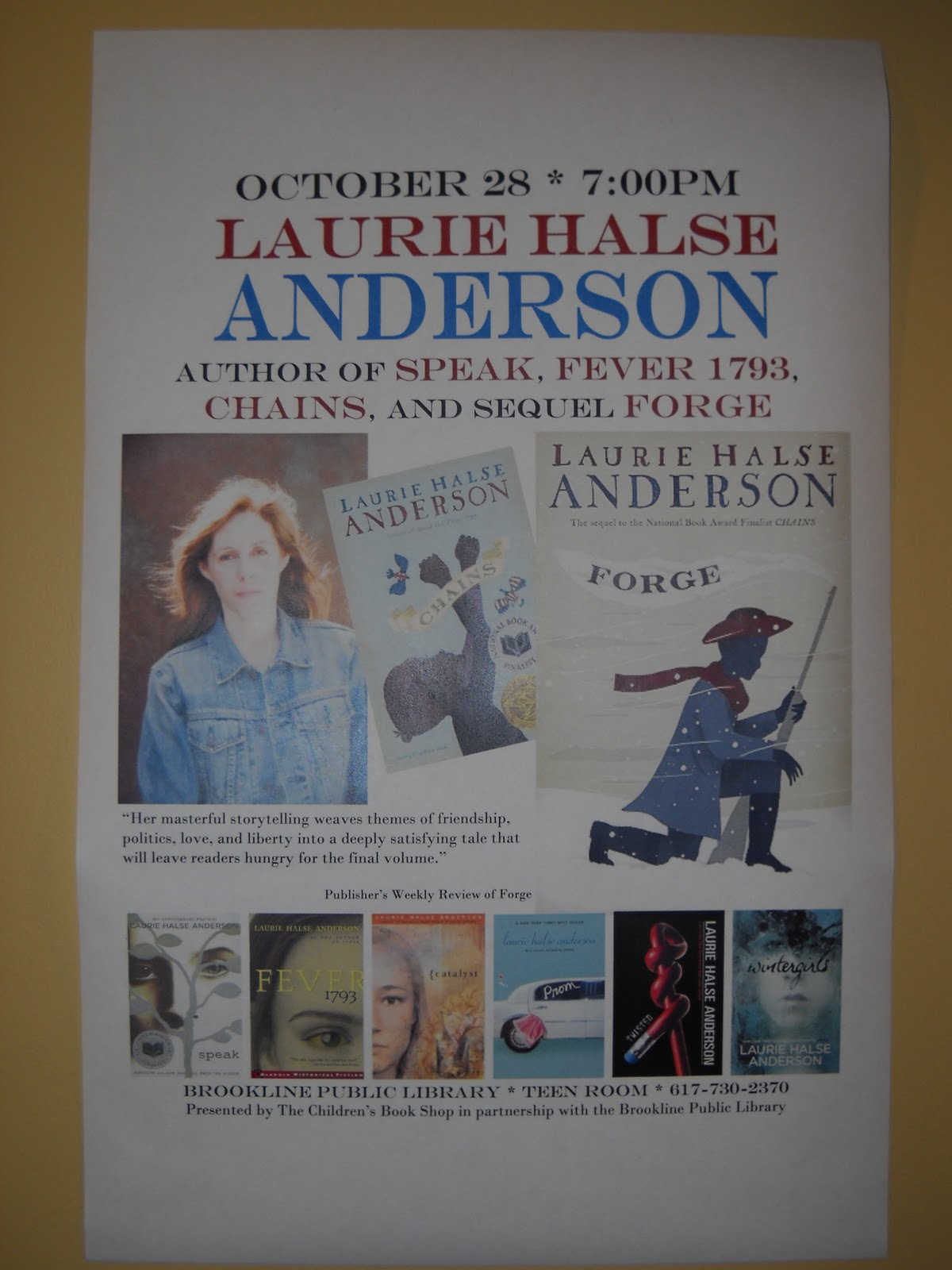 essays on the book speak by laurie halse anderson