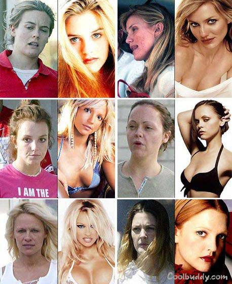 celebrity no makeup. Celebs Before And After Makeup