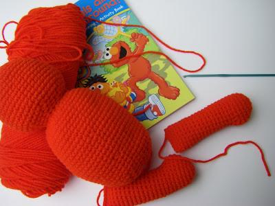 Baby Elmo Quilt Afghan Crib Blanket Crochet Pattern