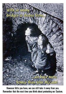 John McCain: Let Them Sleep Under Bridges!