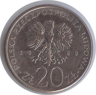 Numismatisme Polish coin moneta rzeczpospolita polska 20 zlotyh монета с парусником Дар Поморья Münzen  polnischen Zlotys numismatisme zlotys en argent polonais zlotys de plata polacos numismática