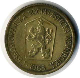 Československá koruna  Чешская крона Krone altertümliche Münze ancienne pièce la couronne moneda antigua la corona