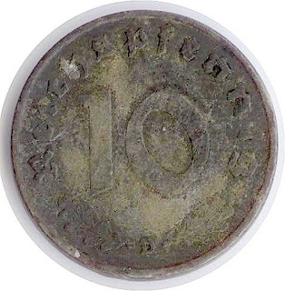 Reichspfenning Dritten Reiches Third Reich German Empire Рейхспфенниг монета Третьего Рейха Германской Империи moneda de la ocupación pièce du Troisième Reich